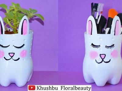 DIY Cat plant holder and Makeup brush holder- Pinterest Inspired