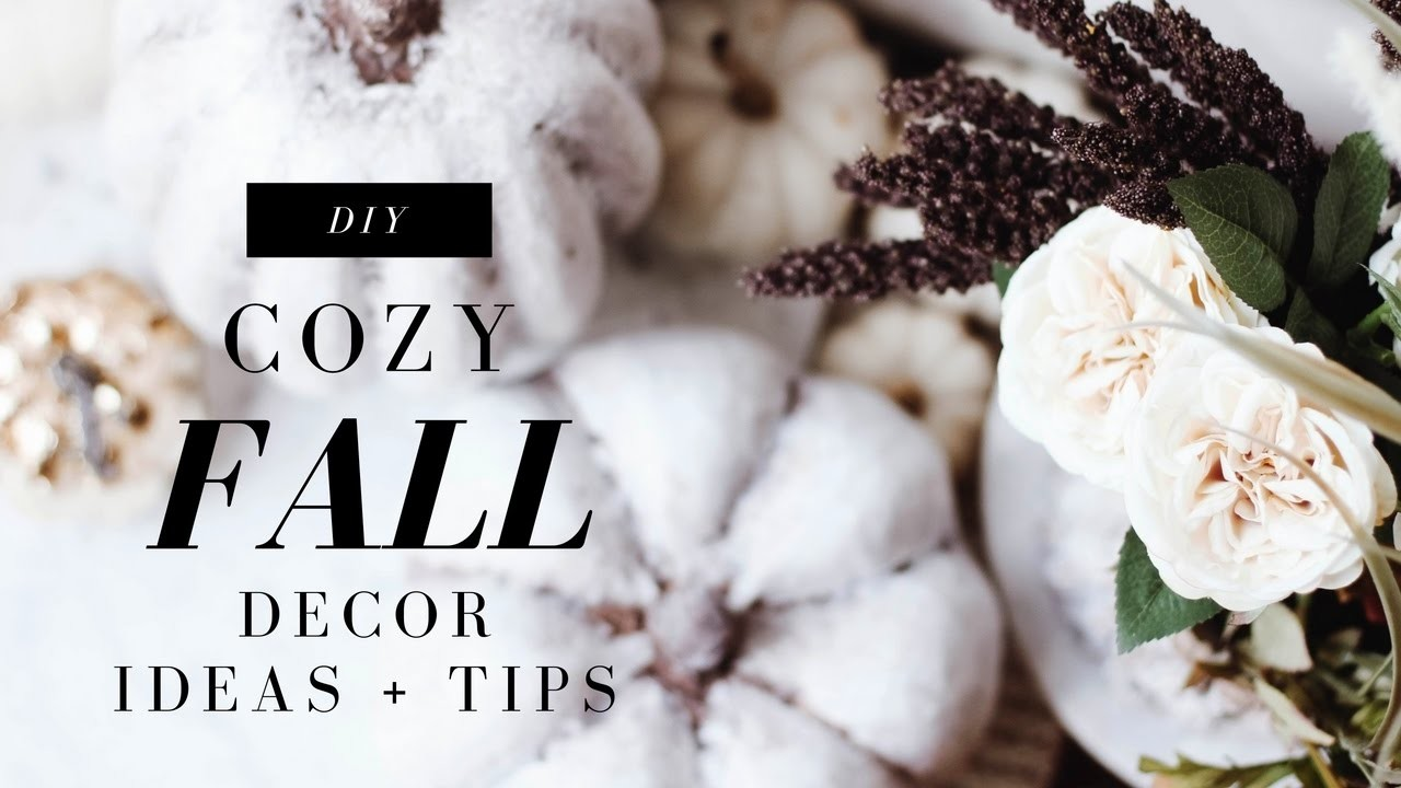 DIY Fall Decor! Make Your House Cozy! Anthropologie Inspired!   Collab with Rachel Metz