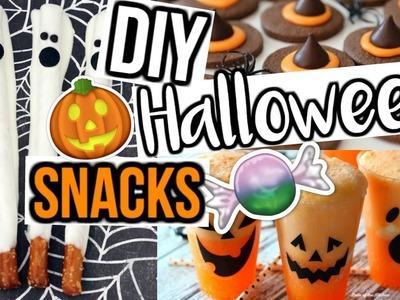 DIY HALLOWEEN PARTY SNACKS! | Throw a Last Minute Halloween Party