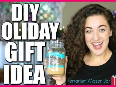 DIY HOLIDAY GIFT IDEAS - Terrarium Mason Jar | Hashtag Zoe