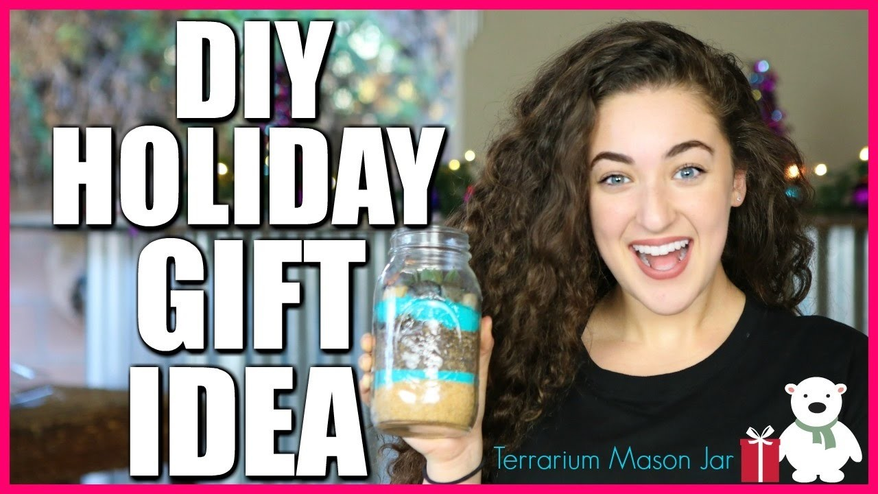 DIY HOLIDAY GIFT IDEAS - Terrarium Mason Jar | Hashtag Zoe