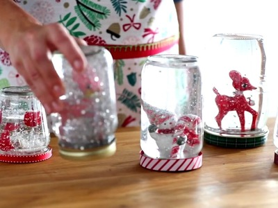 DIY Holiday Ornament Snow Globe