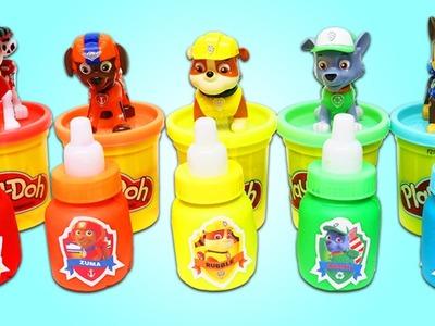 DIY How to Make PAW PATROL Rainbow Play Doh Baby Bottles!