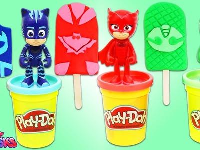 DIY How to Make PJ MASKS Play Doh Popsicles Fun & Easy Play Dough Dessert Art!