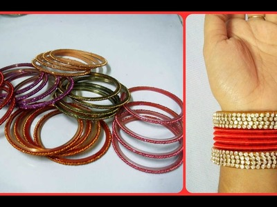 DIY: How to turn your old bangles into bridal chuda I Silk thread Bangles I Creative Diaries