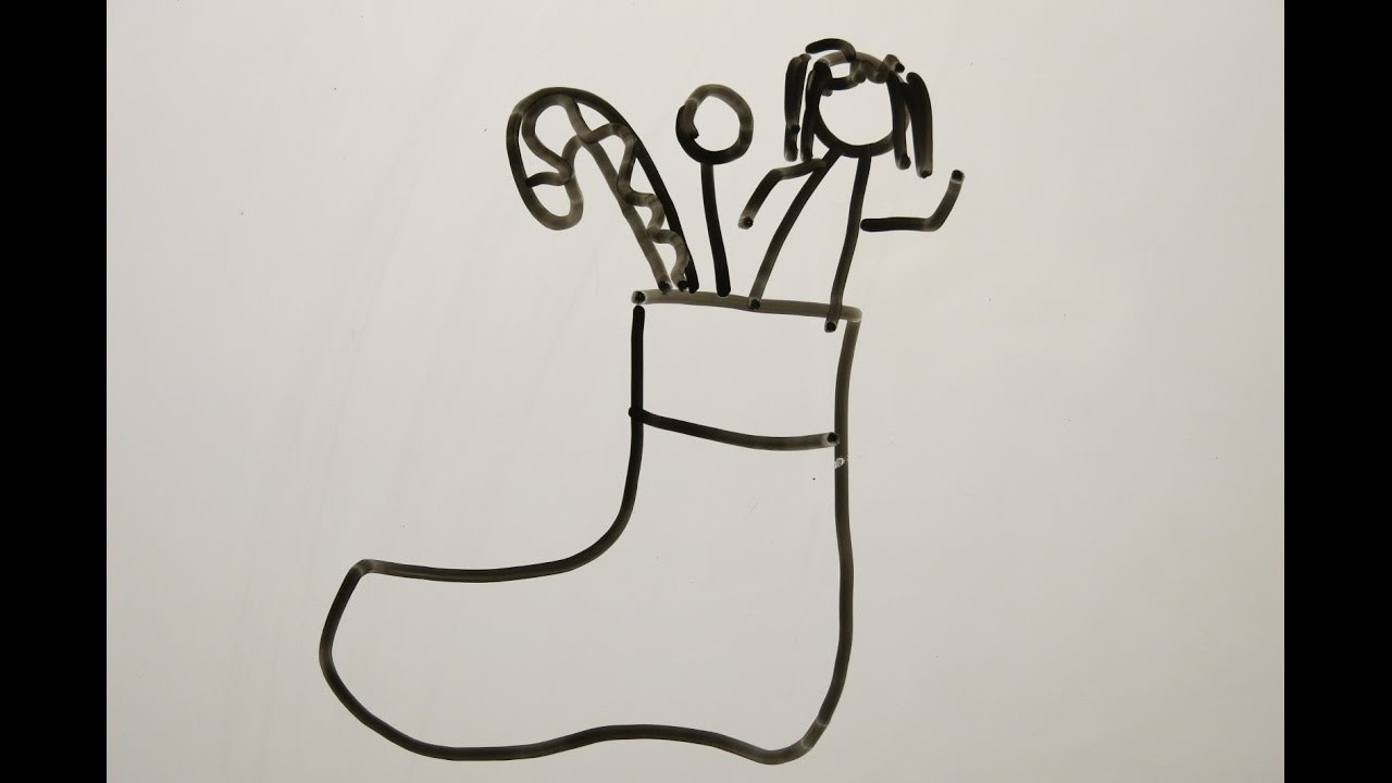 25e84adba DIY Learn How to Draw Christmas Stockings. Easy Drawings for Kids.