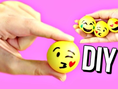 DIY MINI EMOJI STRESS BALLS! How To Make Stress Balls | Courtney Lundquist