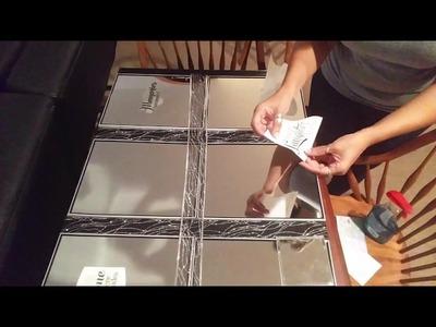 DIY MIRRORED WALL HANGING UNDER 15.00