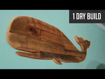 DIY Pallet Whale - No Measurements Needed!