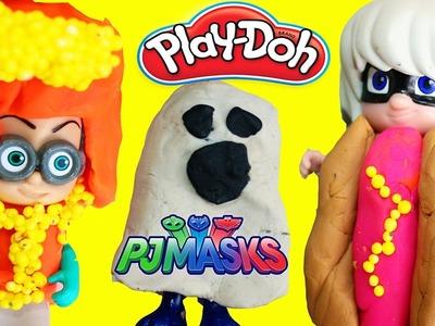 DIY PJ MASKS Halloween Costumes Play Doh Makeover Romeo Luna Girl Night Ninja Catboy Gekko Owlette