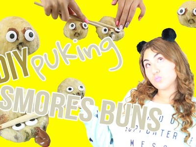 DIY puking smores buns | easy way to make culster buns look-alike