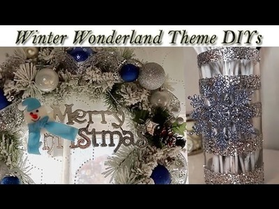 DIY | Winter Wonderland Glitter Vase & Frosted Wreath