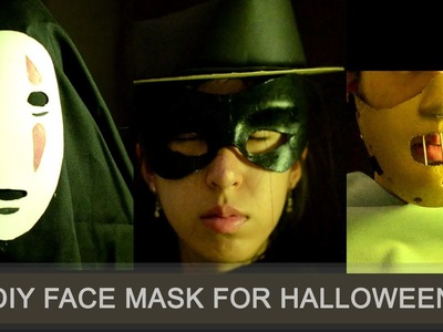 Easy and fast DIY  face mask for halloween