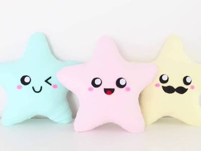 عمل مخدة ديكور بشكل نجمة | DIY Synthetic Nim C DIY Easy Kawaii Star Plush Pillows Easy Room Decor