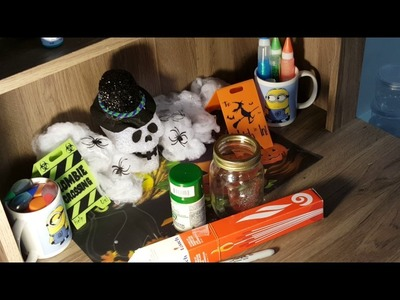 Making A DIY Halloween Candle Jar!