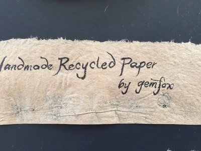 Making Paper Handmade Recycled Kraft Paper from Corrugated Cardboard Packaging Shipping Boxes