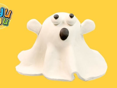 Play Doh Modeling Friendly Halloween Ghost | Play dough DIY for Kids