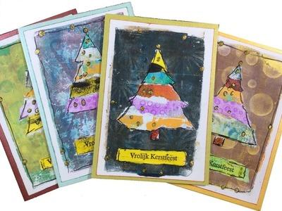Trompke - Making a Christmas Card (no.9) DIY (Gelli plate)