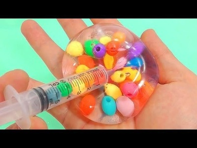 BINGO | DIY Syringe How To Make Glue Marble Water Balloon Learn Colors Slime Glitter Toys Kids Songs