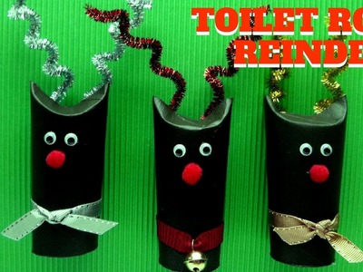 Christmas Craft - Toilet Paper Roll Reindeer - Toilet Paper Roll Craft