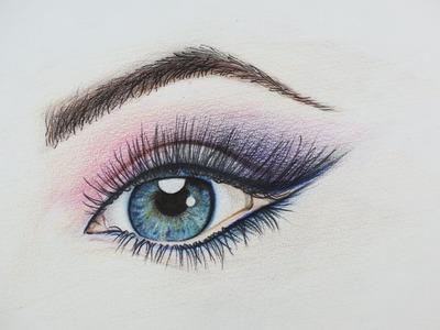 DIY Beautiful Eye Drawing. How to Draw an Eye, Amazing Example