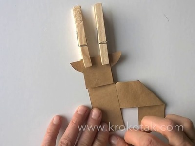 Easy To Make Paper Rudolph