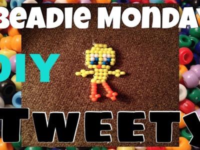 (Full) Beadie Monday tweety bird pony bead seed bead keychain howto tutorial