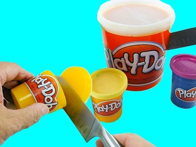 How to Make Play doh CANS Gummy Shape Fun & Easy DIY Jello Dessert!