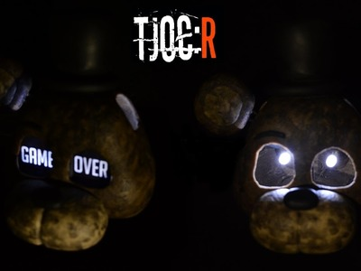 "IGNITED FREDDY ""GAME OVER"" MASK LAMP TUTORIAL [LED EYES] ✔ Polymer Clay ✔ Cold Porcelain ✔ Porcelana"