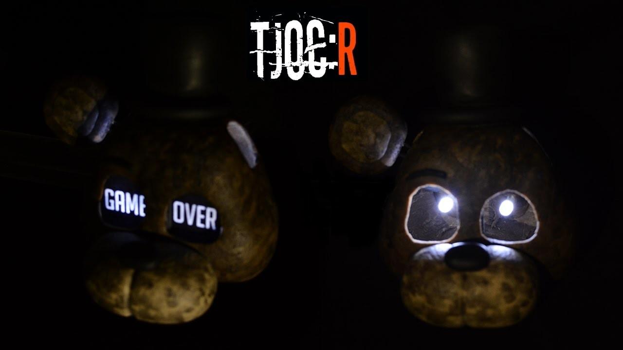 "IGNITED FREDDY ""GAME OVER"" MASK LAMP TUTORIAL [LED EYES] ✔ Polymer Clay ✔ Cold Porcelain ✔ Porcelana"
