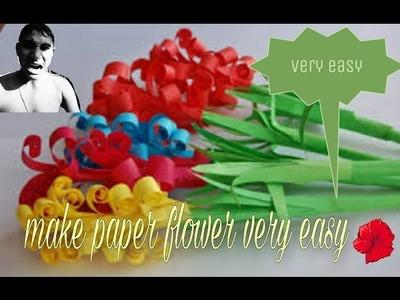 Make rose paper flower very easily in hindi
