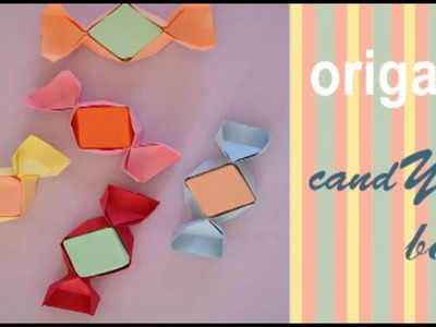 Origami  I Caramel - candy box I How to fold a paper candy box
