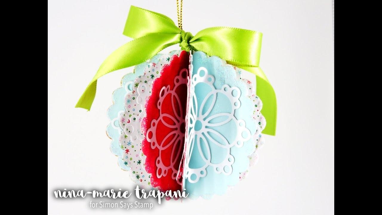 Paper Folded Scallop Ornament + Simon December Card Kit