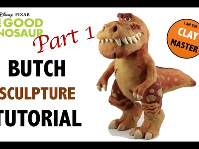 T REX - Butch Polymer Clay Sculpture Tutorial. PART 1.2 (Tutorial Arcilla Polimérica)