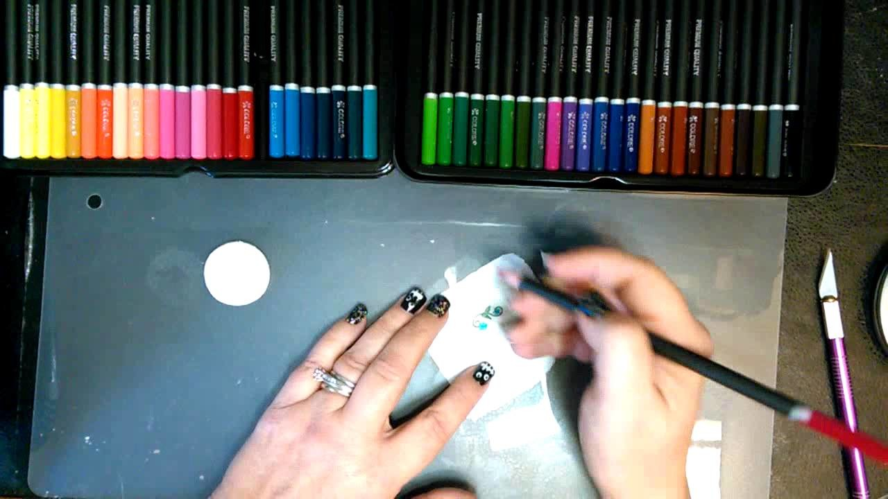Transferring A Colored Pencil Image To Polymer Clay