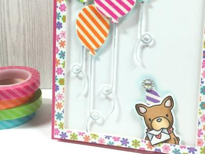 A Washi Tape Birthday Card | Happy National Scrapbook Day!