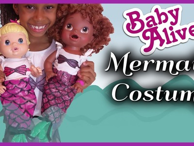 BABY ALIVE Mermaid Costume | NO SEW Doll Craft | BlueprintDIY Kids