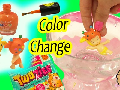 Color Changing Diaper Twozies Baby - DIY Nail Polish Craft Custom - Cookieswirlc