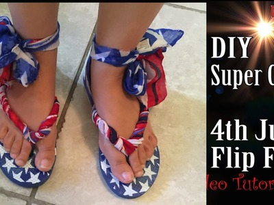 Craft DIY: $2 Dollars Super Cute 4th July Gladiator Flip Flop