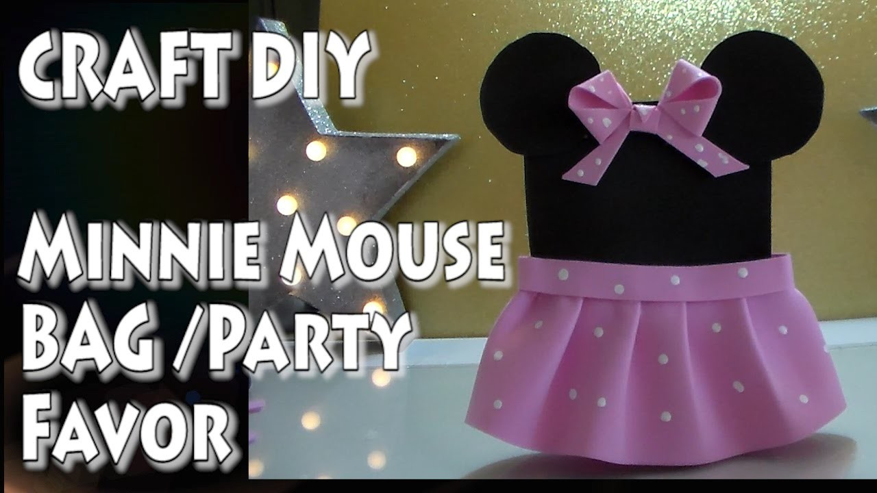 Craft DIY: Minnie Mouse Bag (Party Favor).by Cup n Cakes Gourmet