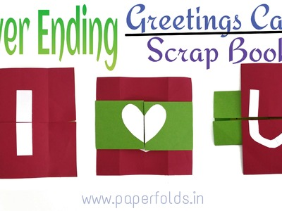 """Craft Tutorial to make """"Never Ending Greeting Card"""" - Valentine theme"""
