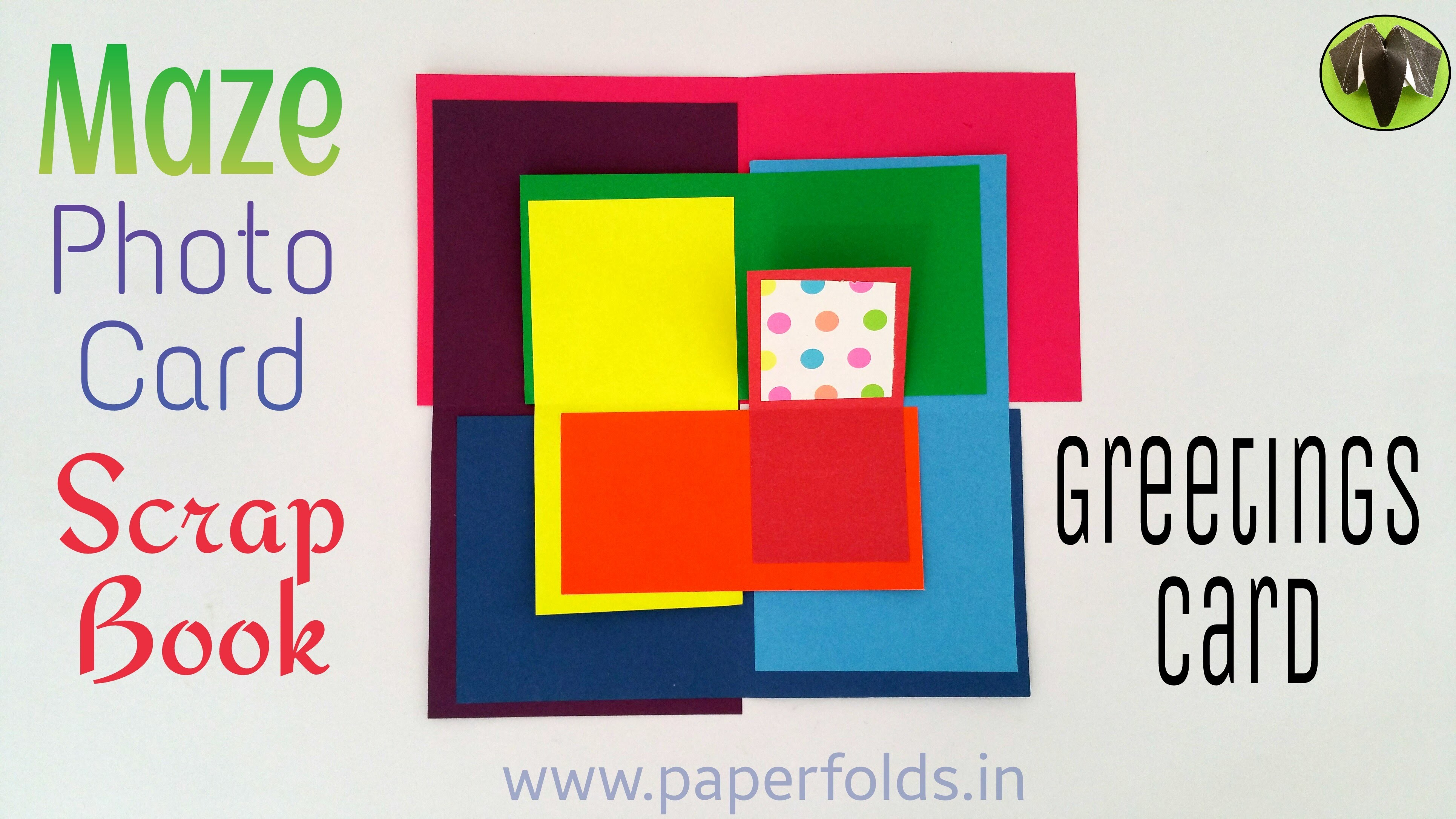 """Craft Tutorial to make """"Rainbow Maze Photo Card   Scrap Book   Greeting Card"""" for Father's day"""