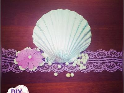 Decoupage seashell ideas DIY foil decorations craft tutorial. URADI SAM