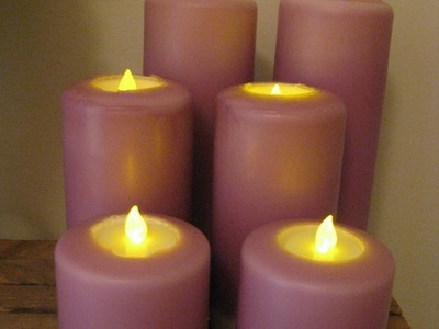 Dipped Pillar Candles by Village Craft and Candle