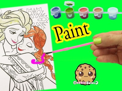 Disney Frozen Coloring Paint Set - Painting Queen Elsa & Sister Anna  - Craft  Video