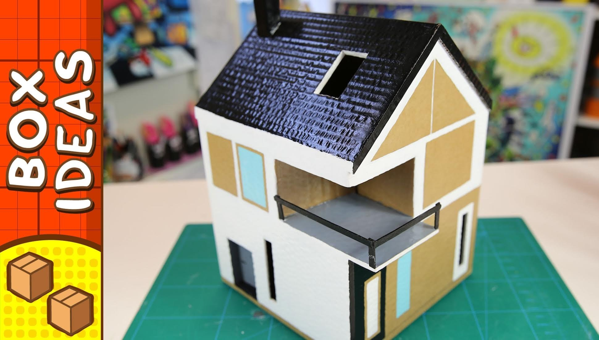 Diy Cardboard House Scandinavian Craft Ideas For Kids