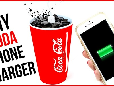 DIY Crafts: Coca Cola Phone Charger - Soda DIYs - Cool DIY Project!