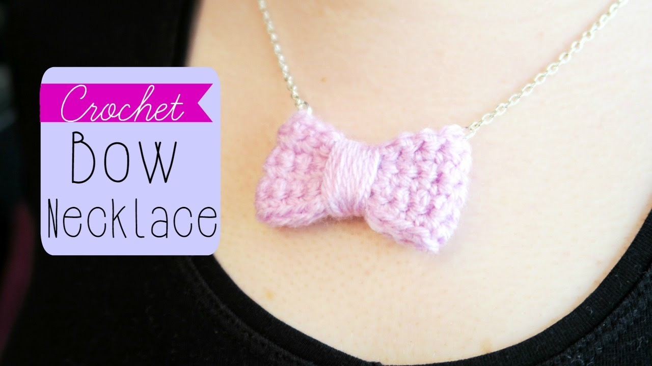 DIY Easy Crochet Bow Necklace! ¦ The Corner of Craft