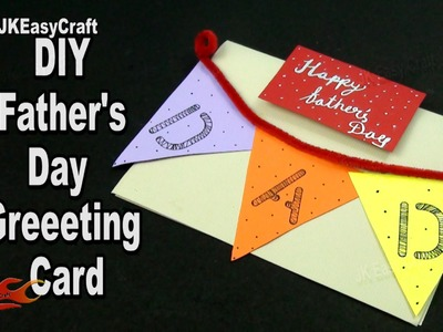 DIY Easy Father's day card | How to make | JK Easy Craft 174
