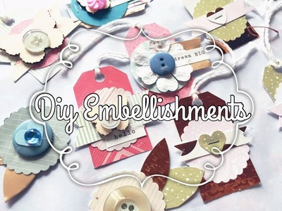 DIY embellishments using Buttons & Paper Punches!!